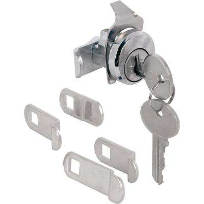 3/4 in. Outside Dimension Brushed Nickel 5-Cam Mailbox Lock