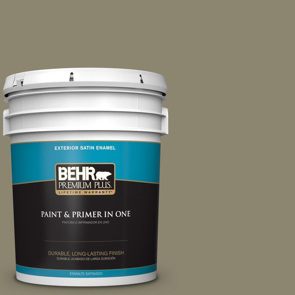5 gal. #PPU8-21 Mossy Bank Satin Enamel Exterior Paint