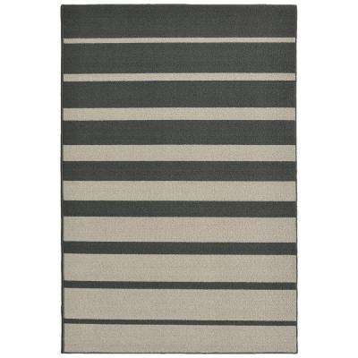 Stair Steps Cinder/Silver 5 ft. x 7 ft. Area Rug