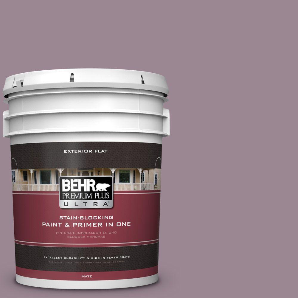 BEHR Premium Plus Ultra 5-gal. #690F-5 Purple Mauve Flat Exterior Paint