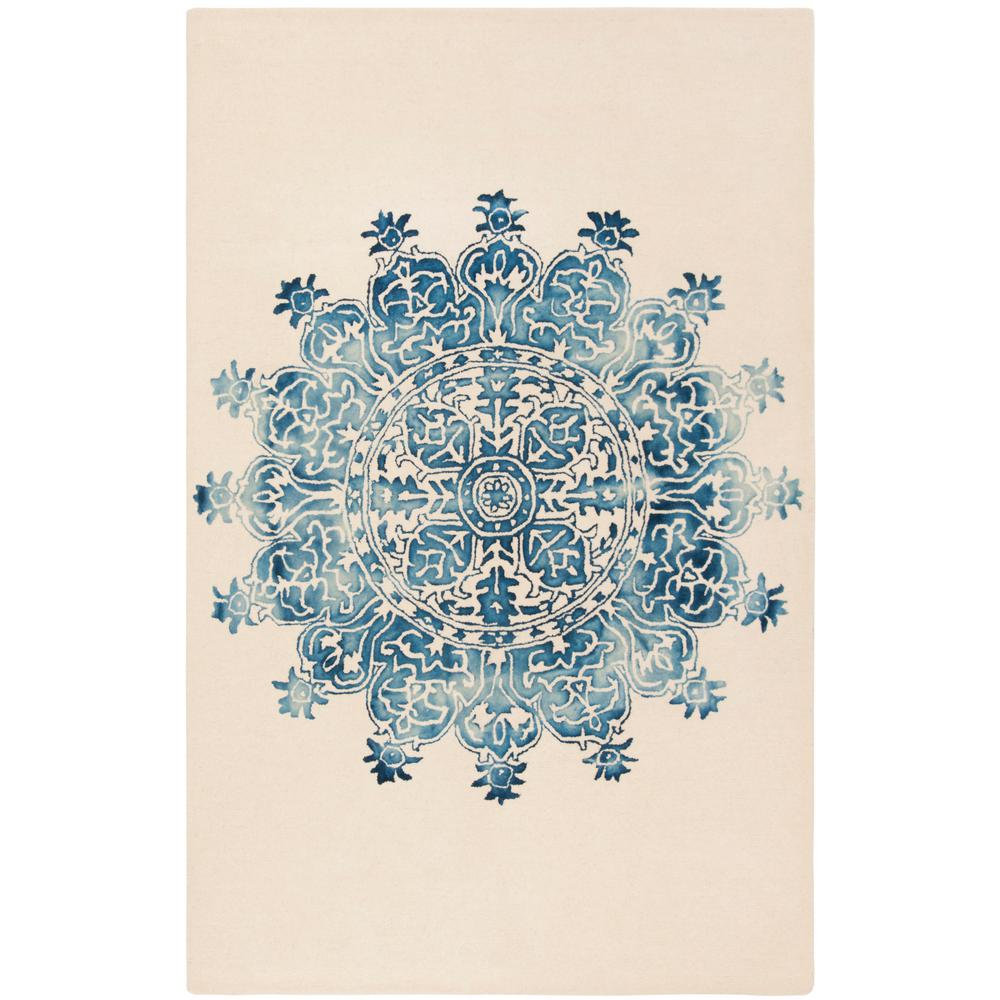 Safavieh Dip Dye Ivory Blue 5 Ft X 8 Ft Area Rug Ddy701m 5 The