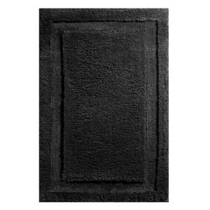 Click here to buy interDesign 34 inch x 21 inch Spa Bath Rug in Black by interDesign.
