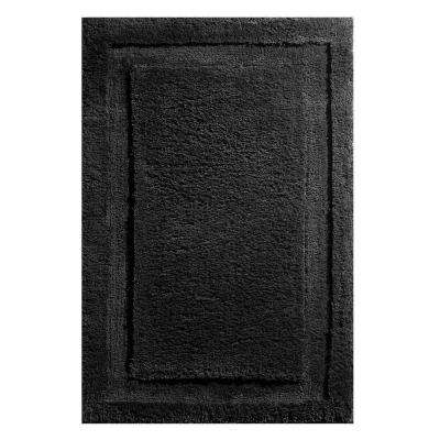 34 in. x 21 in. Spa Bath Rug in Black