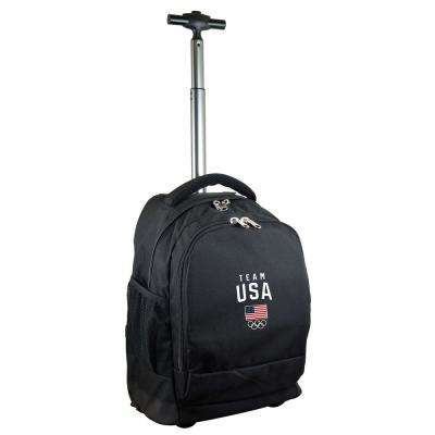 Olympics Team USA Wheeled Premium Backpack in Black Duffel Bag