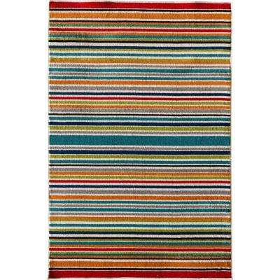 Patio Brights Santee Multi 5 Ft X 7 Ft Indoor Outdoor Area Rug