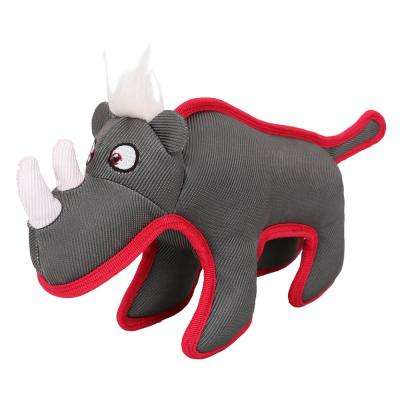 Grey Animal Dura-Chew Reinforce Stitched Durable Water Resistant Plush Chew Tugging Dog Toy