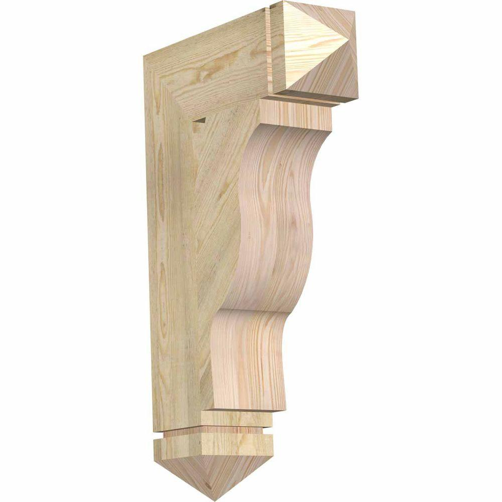 Ekena Millwork 6 in. x 32 in. x 20 in. Douglas Fir Funston Arts and Crafts Rough Sawn Bracket