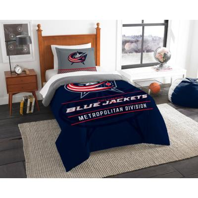 Blue Jackets Draft 2-Piece Multi-Color Polyester Twin Comforter Set