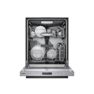 Bosch 800 Series Top Control Tall Tub Pocket Handle Dishwasher in Stainless Steel with Stainless Steel Tub, Crystal Dry, 42dBA
