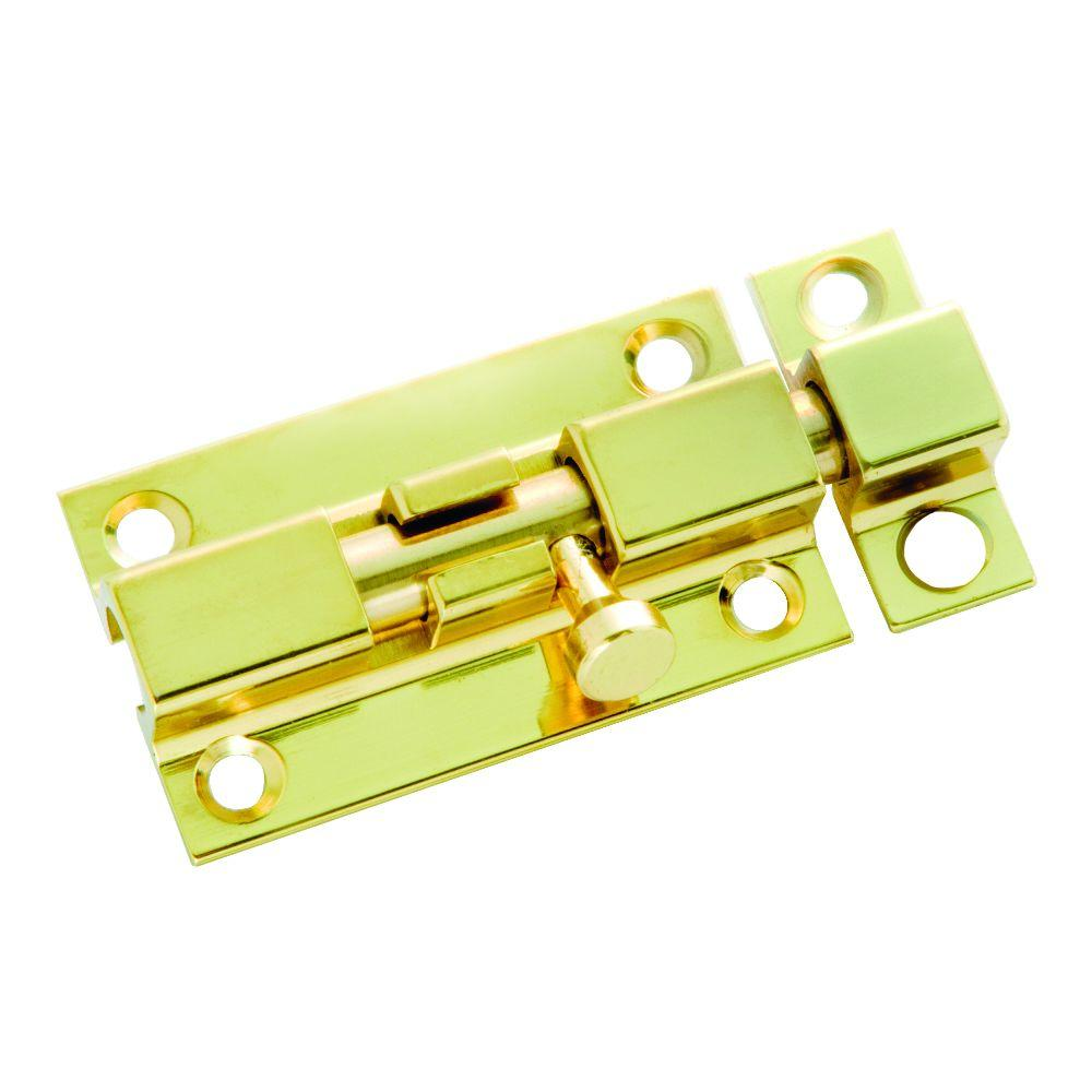 3 in. Polished Brass Barrel Door Bolt