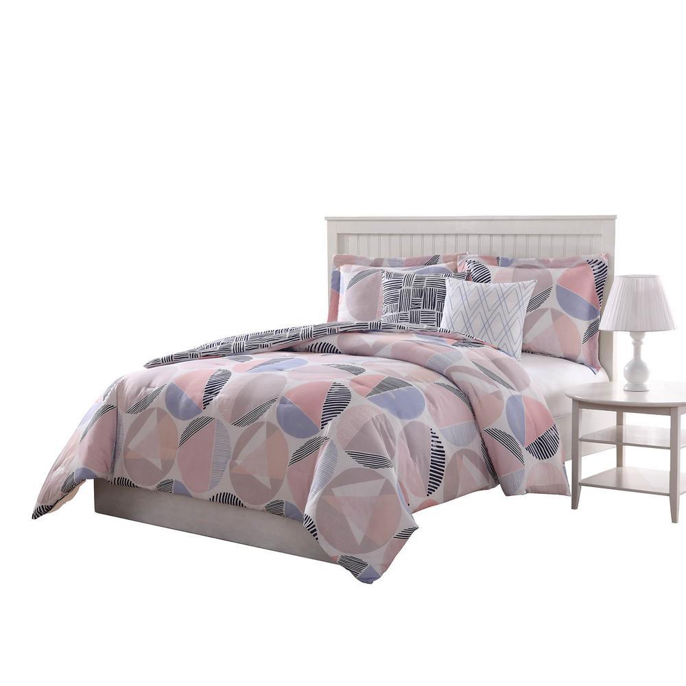 Jagger Reversible 5-Piece Queen Comforter Set by