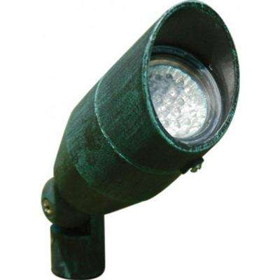 Skive 3-Light Green Outdoor LED Spot Light