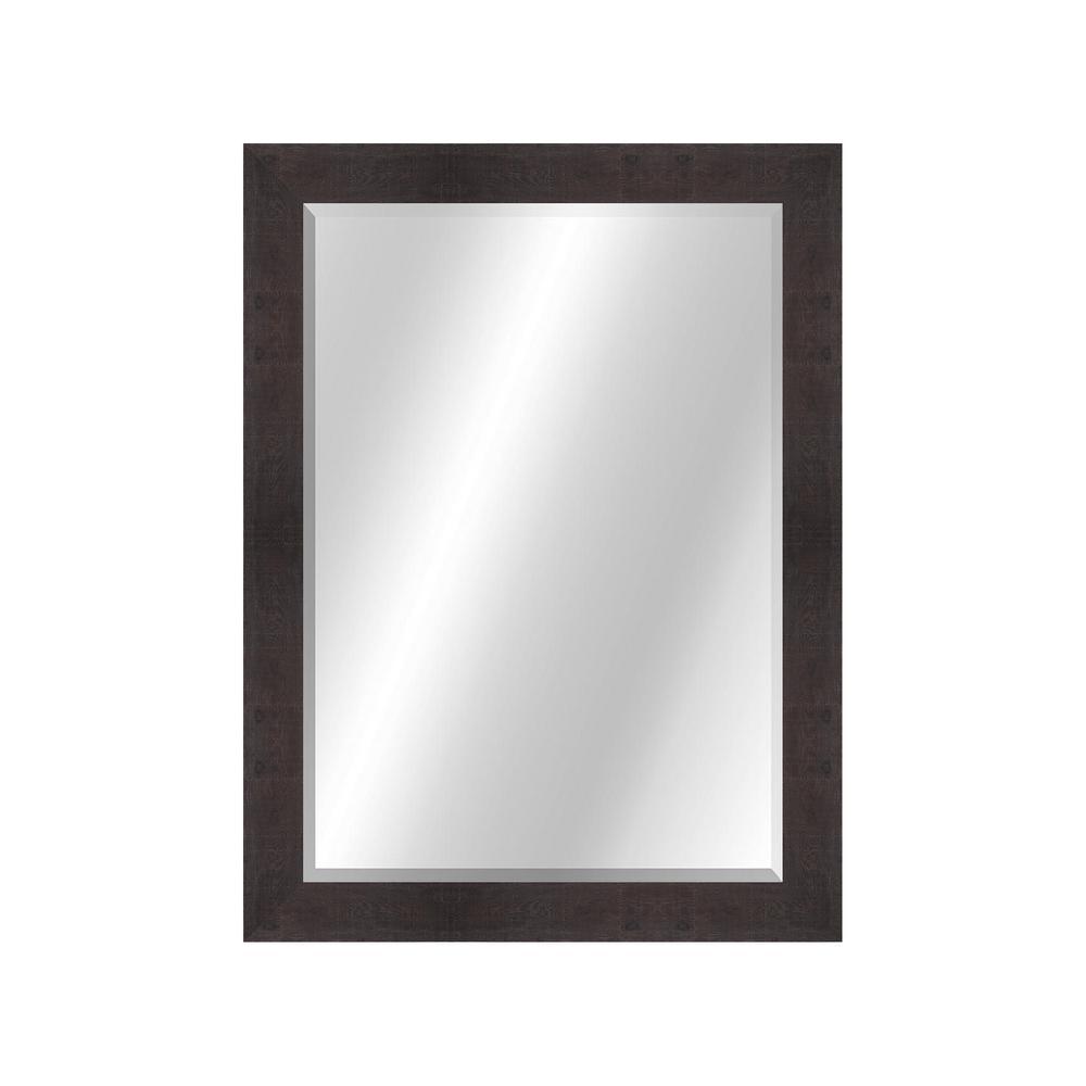 Wood Toned 22 x 28 Value Core Dark Walnut Framed Vanity Mirror