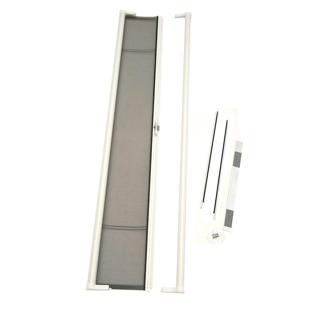 36 in. x 96 in. Brisa White Tall Retractable Screen Door