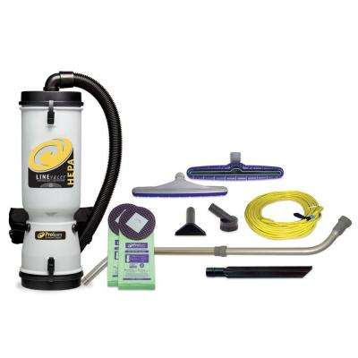 LineVacer HEPA 10 qt. Backpack Vac with Xover Multi-Surface Telescoping Wand Tool Kit