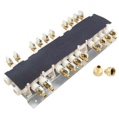 20-Port PEX Manifold with 1/2 in. Brass Ball Valves