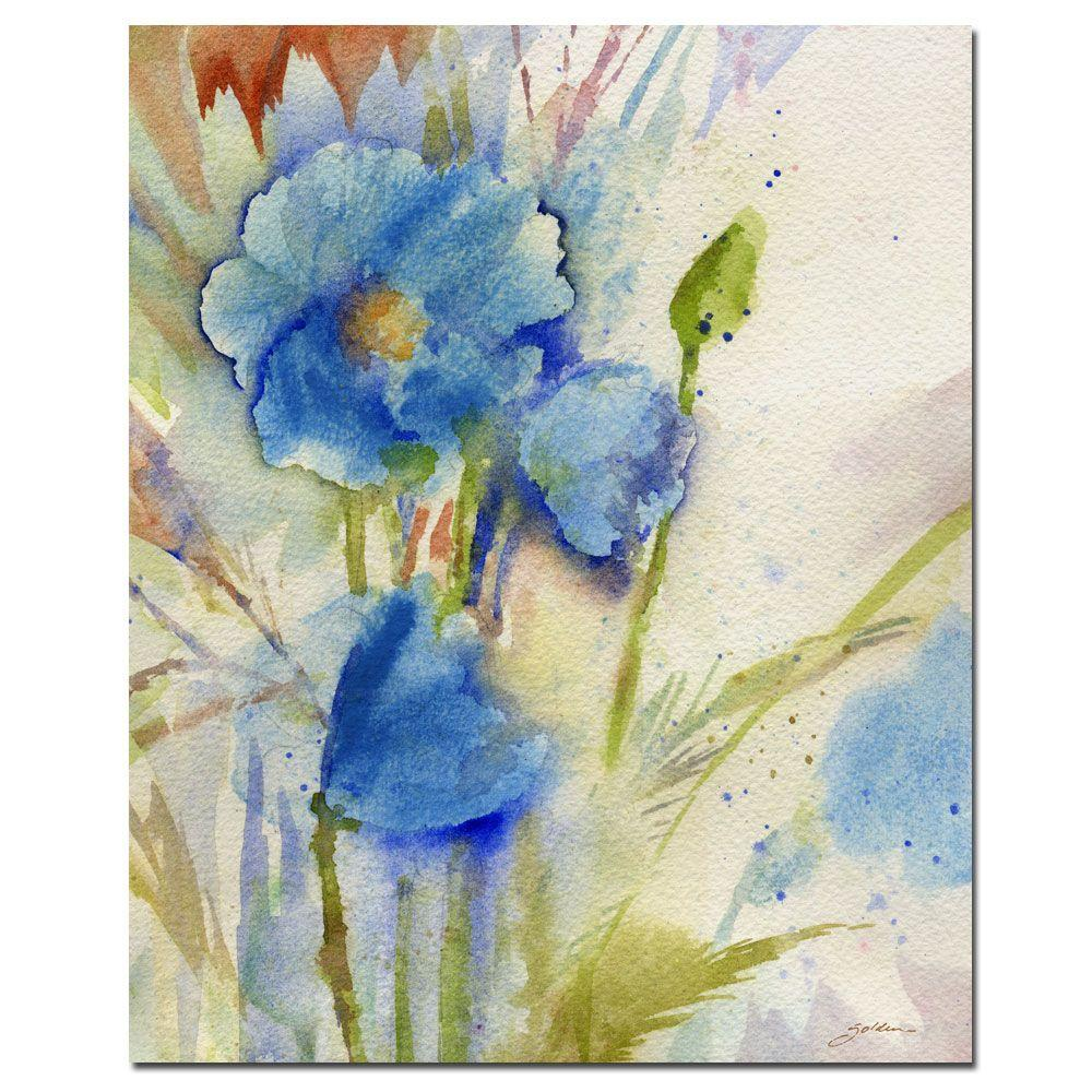 14 in. x 19 in. Magical Blue Poppy Canvas Art