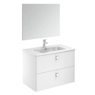Concert 32 in. W x 18 in. D x 23 in. H Complete Bathroom Vanity Unit in Gloss White with Mirror