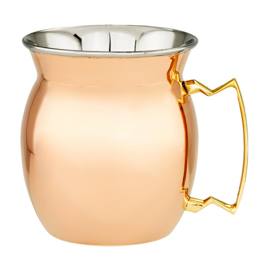16 oz. 4 in. H 2-Ply Solid Copper/Stainless Steel Moscow Mule