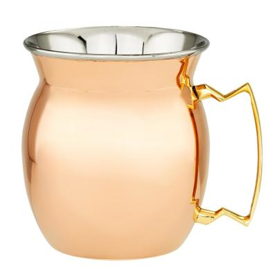 16 oz. 4 in. H 2-Ply Solid Copper/Stainless Steel Moscow Mule Mugs (2-Piece)