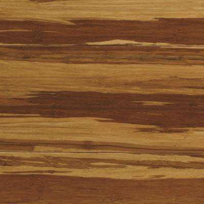 Strand Woven Natural Tigerstripe 3/8 in. T x 5-1/8 in. W x 72 in. L Engineered Click Bamboo Flooring