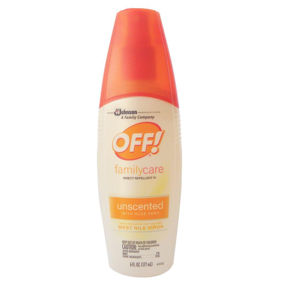 OFF! 6 Oz. Family-Care Unscented Insect Repellent Spritz