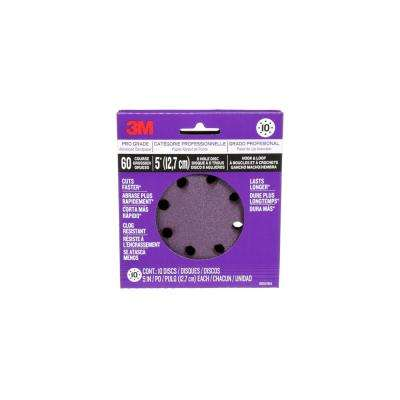 Pro Grade Sanding Discs 5 in. x 8 Hole 60 Grit (10-Pack)
