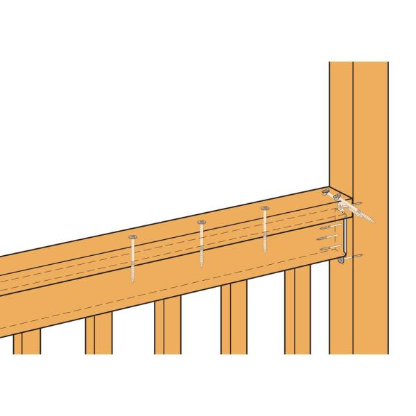 Simpson Strong Tie Fbfz Zmax Galvanized Flat Rail Fence Bracket For 2x4 Nominal Lumber Fbfz The Home Depot