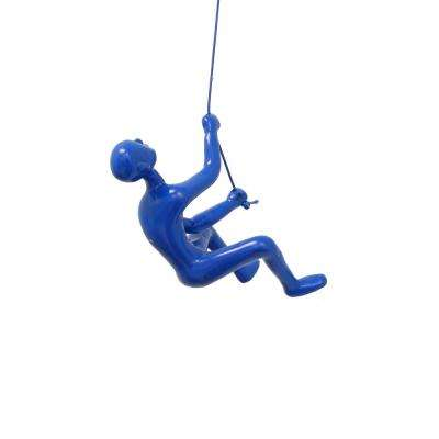 Climbing Man Blue Wall Art