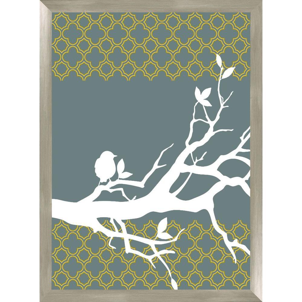 """30-1/2 in. x 22-1/2 in. """"Tree Branch A"""" Framed Wall Art"""