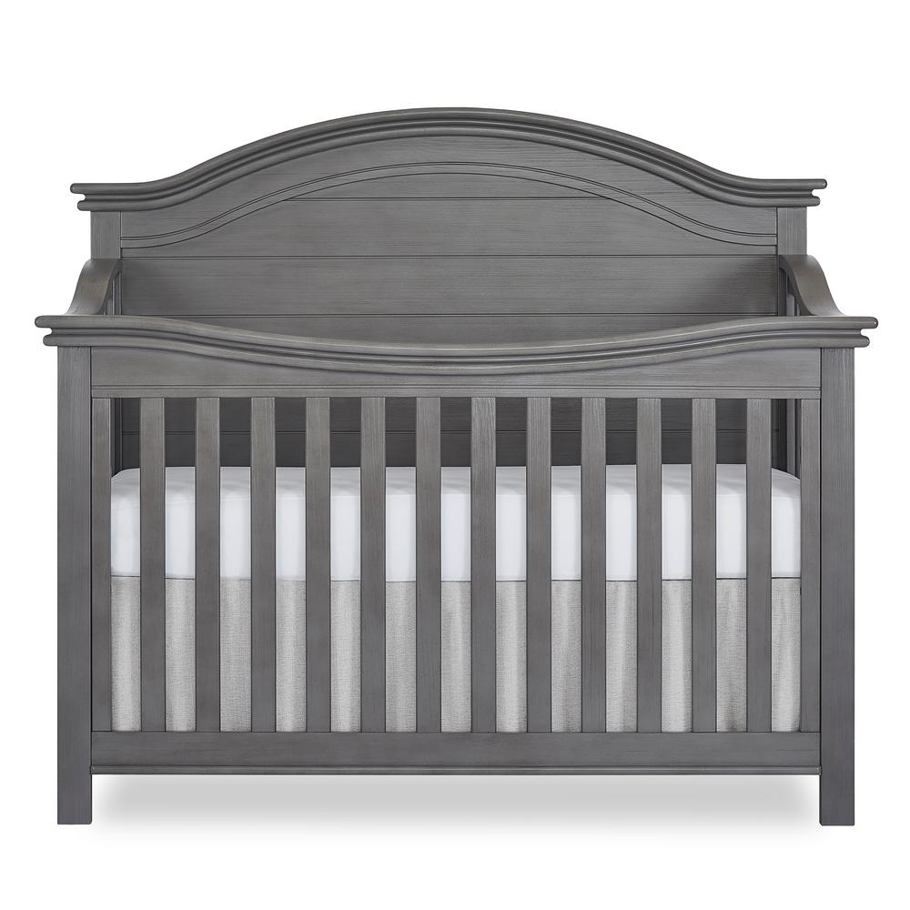Belmar Rustic Grey Curve 5-in-1 Convertible Crib