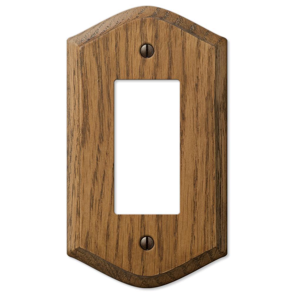 Country 1 Gang Rocker Wood Wall Plate - Medium Oak