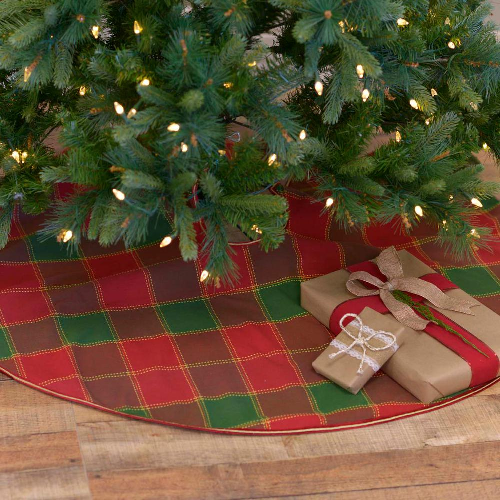 Traditional Christmas.Vhc Brands 48 In Tristan Cherry Red Traditional Christmas Decor Tree Skirt