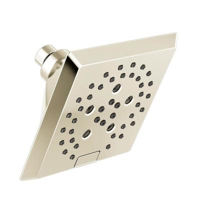 Pivotal 5-Spray 5.8 in. Single Wall Mount Fixed H2Okinetic Shower Head in Polished Nickel