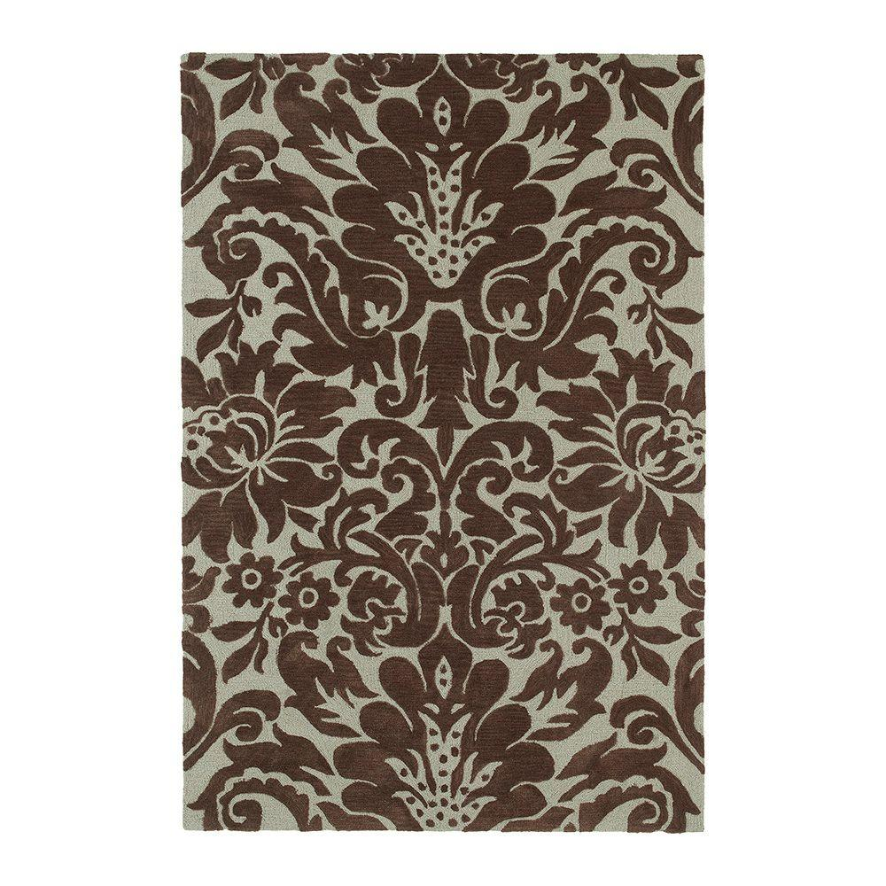 Kaleen Crowne Duncan Chocolate 7 ft. 6 in. x 9 ft. Area Rug