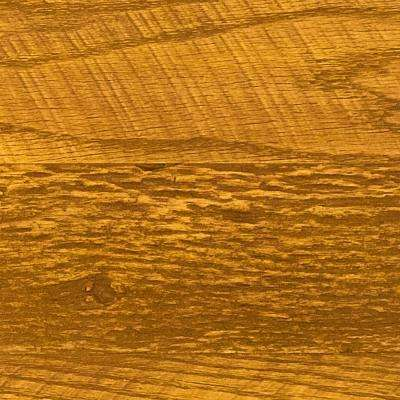 Superior 10 in. x 10 in. Faux Barnwood Panel Siding Sample Honey Pine
