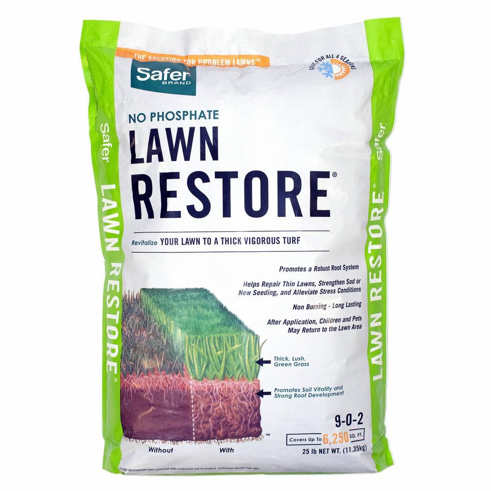 Safer Brand 25 Lbs Lawn Restore Natural Fertilizer 9334 The Home Depot