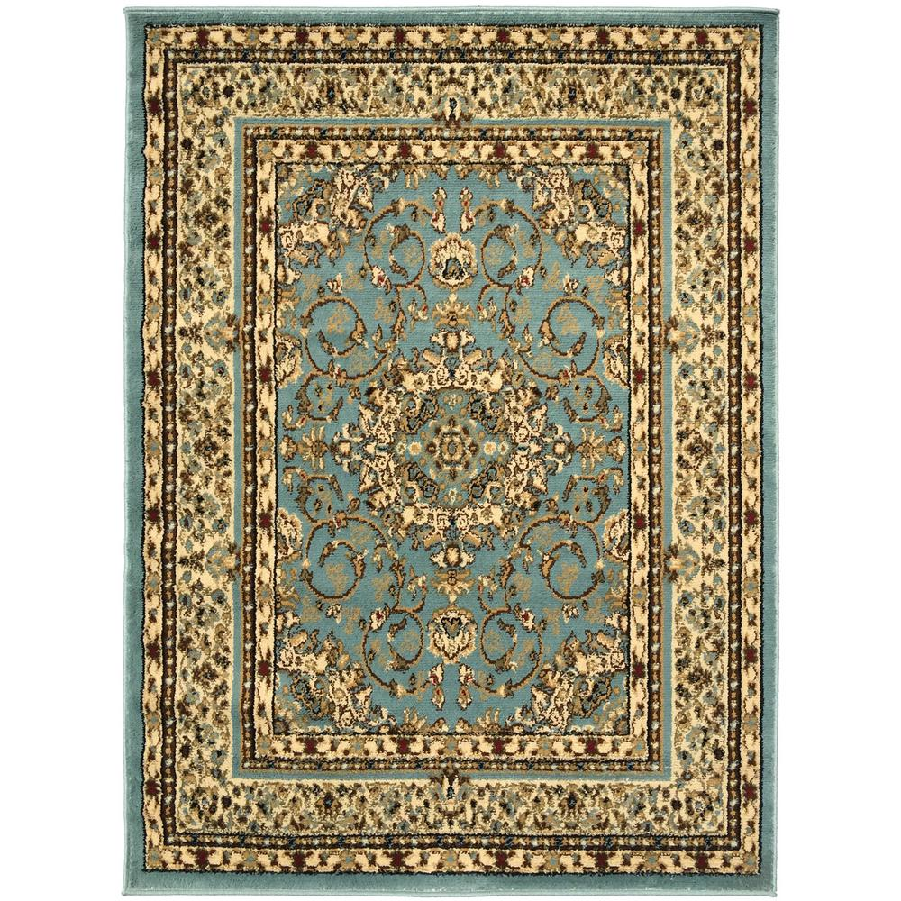 Sweet home stores king collection isfahan oriental medallion blue teal 8 ft x 10 ft indoor area rug king1076 8x10 the home depot