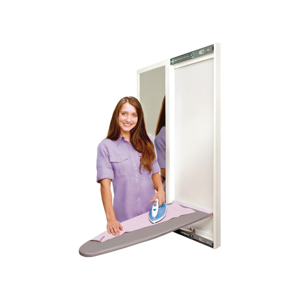 Hide-Away Slim-Line White with Mirror Door-DISCONTINUED
