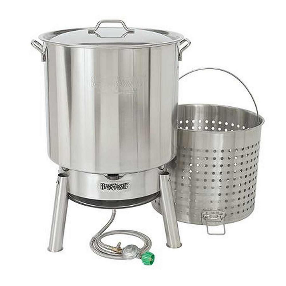 Bayou Classic 82 qt. Stainless Steel Bayou Boiler Cooker Kit-KDS-182 - The  Home Depot