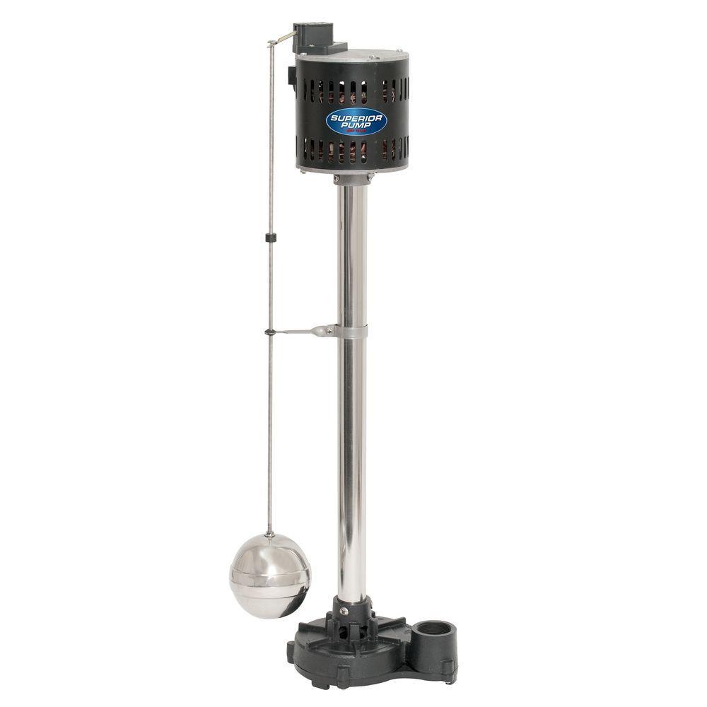 1/3 HP Cast Iron Pedestal Sump Pump