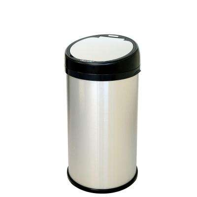 13 Gal. Stainless Steel Round Extra-Wide Lid Opening Motion Sensing Touchless Trash Can