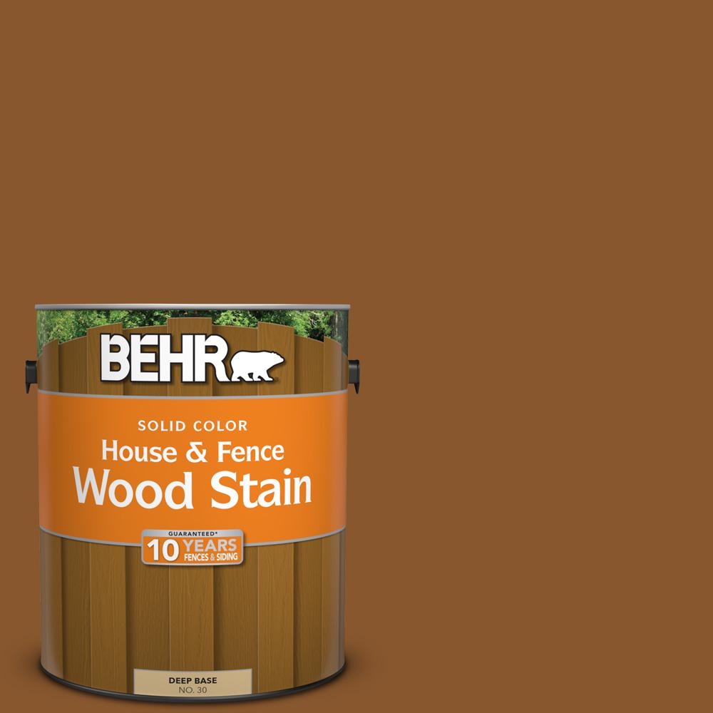 BEHR 1 gal. #SC-115 Antique Brass Solid Color House and Fence Wood Stain