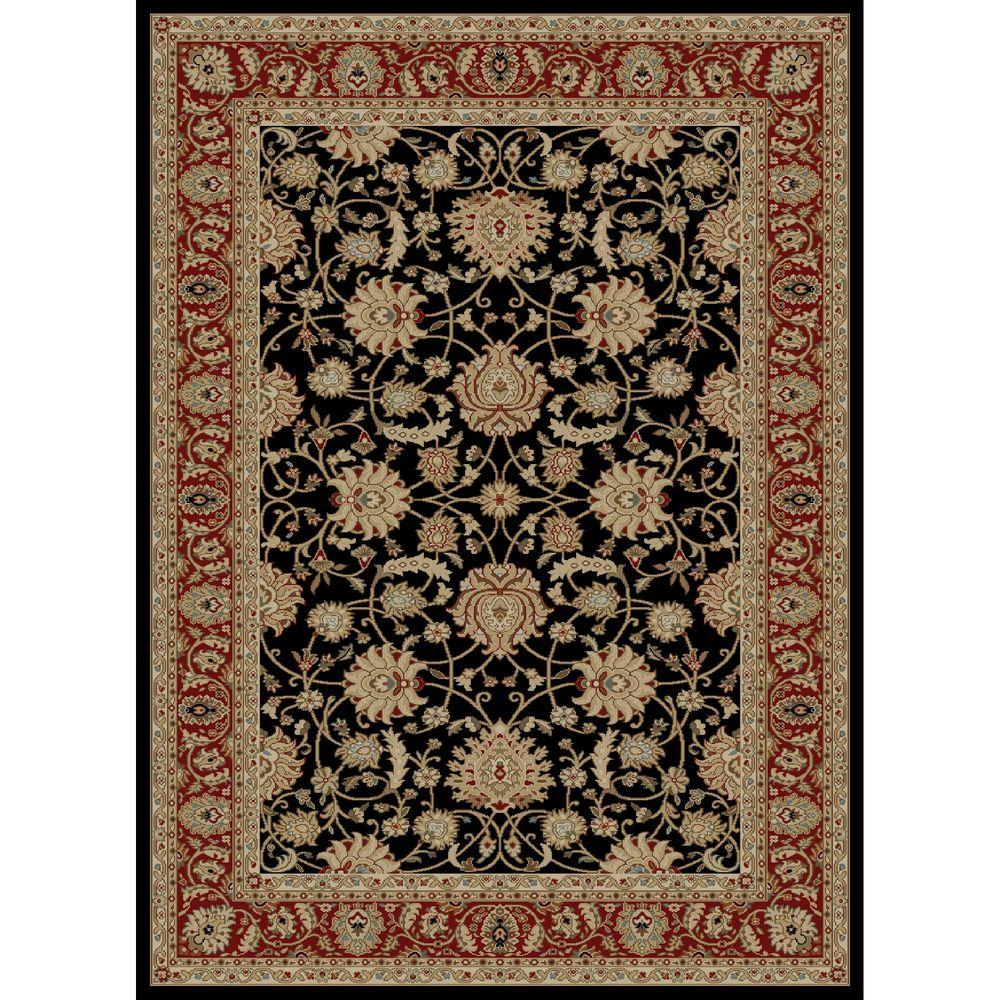 Concord Global Trading Ankara Mahal Black 2 ft. 7 in. x 4 ft. 1 in. Accent Rug