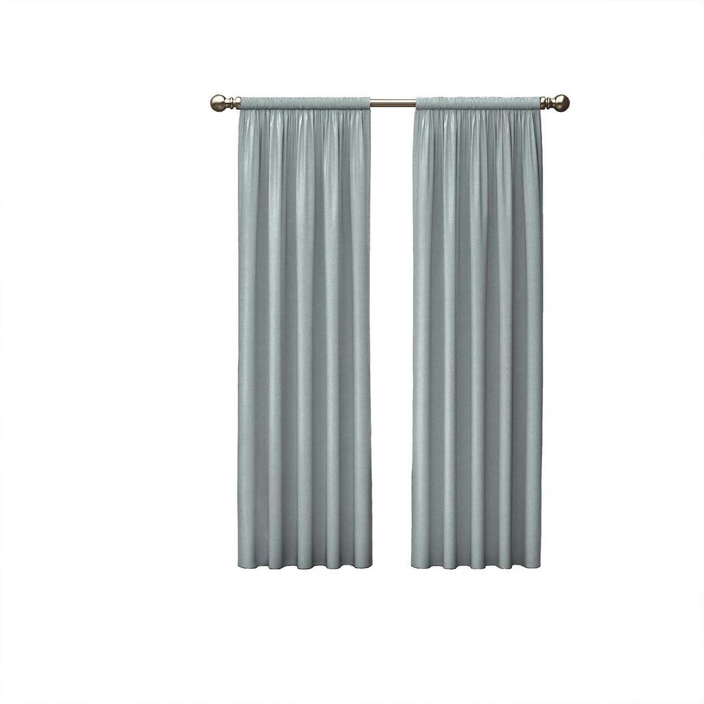 Teller Window Curtain Panels in Spa - 56 in. W x 84 in. L (2-Pack)