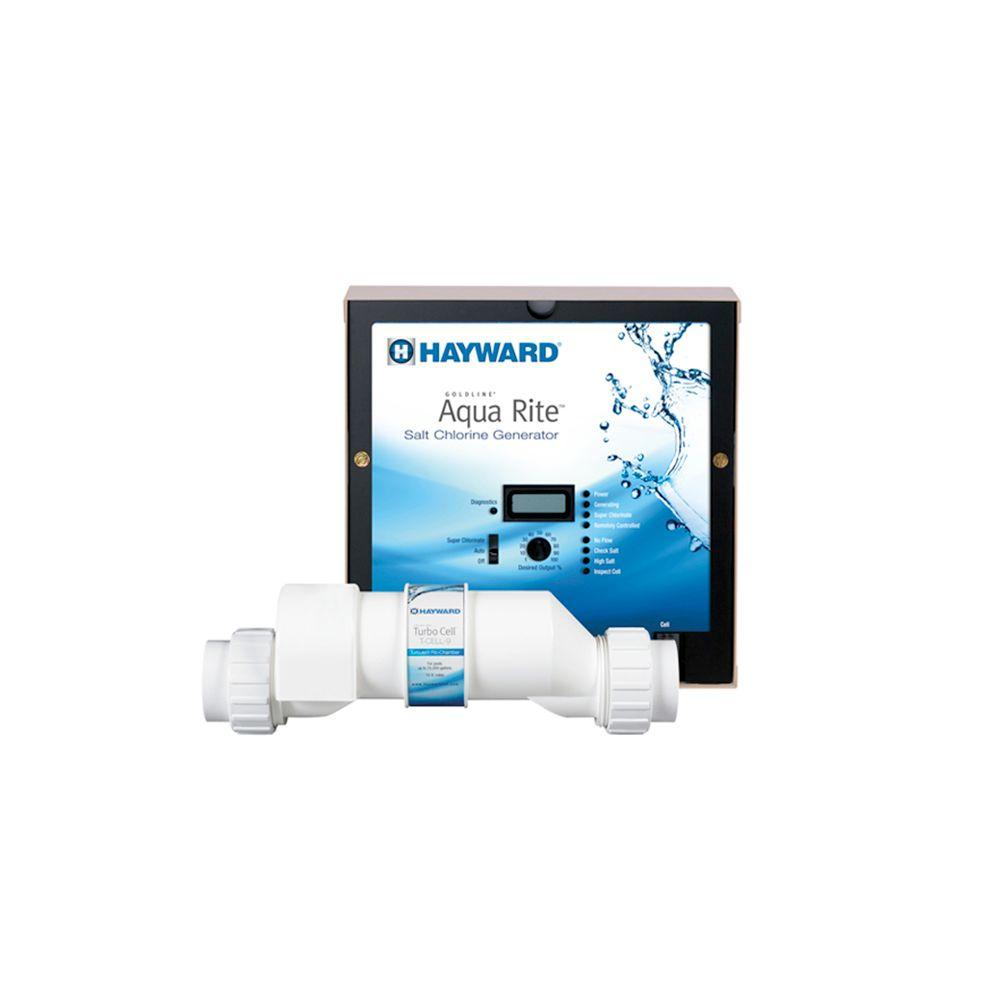 Hayward goldline aquarite complete salt chlorine generating system with 25k gal cell aqr9 the Home rental furniture hayward