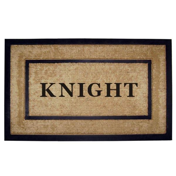 DirtBuster Single Picture Frame Black 22 in. x 36 in. Personalized Door Mat