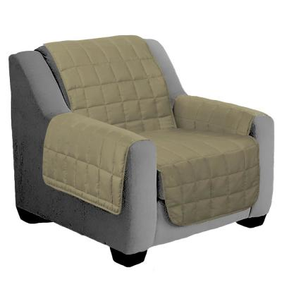 Tan Suede One-Piece Relaxed Fit Chair Furniture Protector