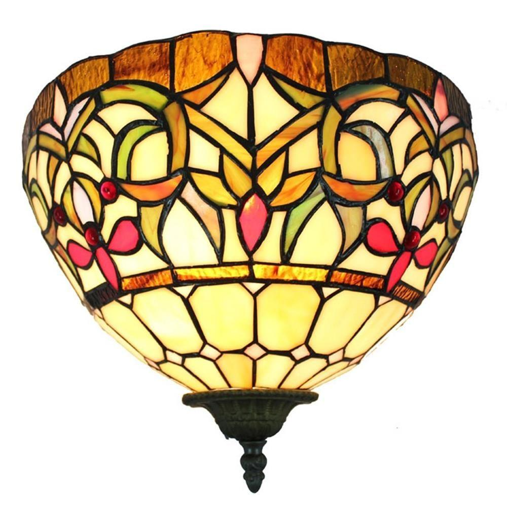 Amora Lighting Tiffany Style Wall Lamp