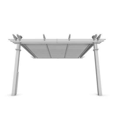 Elysium 12 ft. x 12 ft. White Vinyl Louvered Pergola